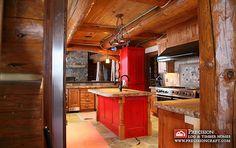 Wyoming Log Homes Kitchen   Flickr - Photo Sharing!