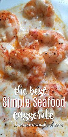 Shrimp Casserole, Seafood Casserole Recipes, Best Seafood Recipes, Shrimp Recipes For Dinner, Healthiest Seafood, Shrimp Recipes Easy, Salmon Recipes, Fish Recipes, Food Dinners