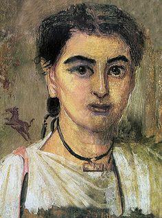 Fayum Portrait of a Boy.  Polski: Portret fajumski przedstawiający chłopca.  Date  English: Second half of 2nd century