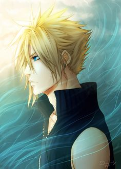 "Yay Haven't done anything for Final fantasy in a while~ Enjoy~ Art © DivineImmortality Character ""Cloud Strife"" © Tetsuya Nomura - Final Fanta. Final Fantasy Cloud, Final Fantasy Vii Remake, Fantasy Art, Tidus And Yuna, A Beast, Video Game Characters, Cloud Strife, Video Game Art, Kingdom Hearts"