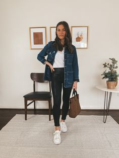 Fall Winter Outfits, Spring Outfits, Cold Weather Fashion, Spring Fashion Trends, Mom Style, White Tees, Style Inspiration, Spring Style, Casual