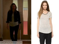 Red Band Society: Season 1 Episode 11 Ashey's Grey Leather Trim Tee