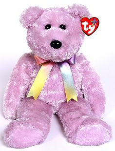 TY Beanie Buddy - Sherbet the Bear (lilac)