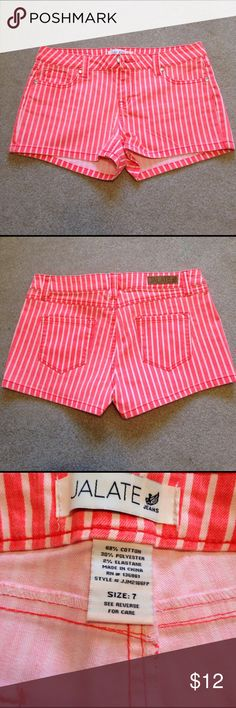 Wet Seal Pin stripe Jean shorts Lightly worn jean shorts. Juniors size 7. No stains or rips. Wet Seal Shorts Jean Shorts