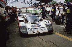 Porsche 962 C LH   driven by Hans-Joachim Stuck, Derek Bell and Al Holbert won the 1987 24 Hours of Le Mans