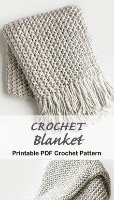 Diy Crochet Afghan, Crochet Throw Pattern, Crochet Afgans, Afghan Crochet Patterns, Crochet Home, Knit Or Crochet, Baby Blanket Crochet, Crochet Blankets, Baby Blankets