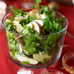 Serve salad in a trifle dish for a more elegant presentation. Get the recipe from Delish.   - Delish.com