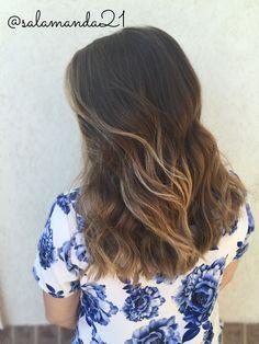 Gorgeous natural sunkissed beachy curled balayage ombré hair done by me Manda Heath @salamanda21