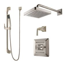 View the Pfister B89-7FE Park Avenue Shower System with Valve Trim, Shower Head, Hand Shower, Diverter Valve and Slide Bar at FaucetDirect.com.