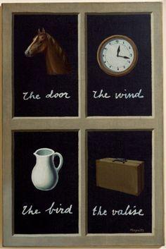 René Magritte, (1898-1967), 1935, La clef des songes (The Interpretation of Dreams), Oil on canvas. on ArtStack #rene-magritte #art