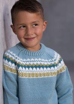 Garnpakke: Gretekofte i Alpakka Forte - Knitting Inna Baby Cardigan Knitting Pattern Free, Fair Isle Knitting Patterns, Baby Boy Knitting, Fair Isle Pattern, Knitting For Kids, Knitting Stitches, Knitting Designs, Hand Knitting, Drops Baby