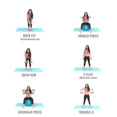 Quick Upper Body Workout for women to get strong, toned, tight arms, shoulders, and upper back from trainer Christina Carlyle. Upper Body Home Workout, Home Weight Workout, Upper Body Workout For Women, Weight Workouts, Arm Workouts At Home, Toning Workouts, Dumbbell Workout, Back Fat Exercises At Home, Bra Fat Workout