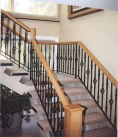Interior Staircase Railing Basket & Collar Balusters Finish: Flat Black Client: Park Ridge Resident