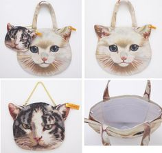 Cat Bag with Mini Cat Pouch.. I must have it!