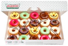 smiley donuts by krispy kreme