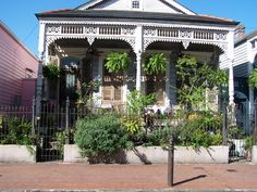 The front of one of the homes in the French Quarter.