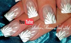 No Water Needed - DIY White Starburst Drag Marble nail art Tutorial - Marble Nail ART Ideas Magazine Rose Nail Art, White Nail Art, Flower Nail Art, Gel Nail Art, Nail Art Diy, Robin Moses, Nail Art Designs, Marble Nail Designs, Nails Design