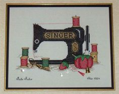 Máquina de coser en punto cruz: Impresionante; los detalles, las sombras, ¡todo! algún día subiré mis propios trabajos, obvio, cuando tenga  alguno decente.