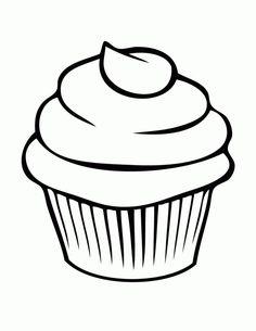 cupcake animado para colorear - Buscar con Google