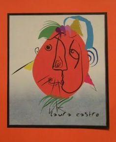 Picasso Portraits Kids art project Picasso Self Portrait, Picasso Portraits, Literary Nonfiction, 5th Grade Art, 5th Grades, Pablo Picasso, Teaching Art, Elementary Schools, Art For Kids
