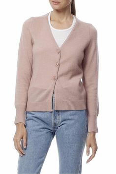 A delicate cropped cardigan with a button down v-neckline spun from the most luxuriously soft cashmere. Designed with ribbed trim and slits on the cuffs. Rayne Cardigan by 360 Cashmere. Clothing - Sweaters - Cardigans Princeton New Jersey