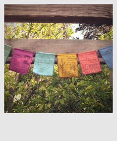 garden prayer flags - for kid's playroom could use when learning the Lord's Prayer for child's activity...