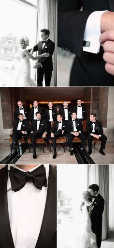This black and white wedding in Charlotte is amazing. And check out how good the groomsmen look!