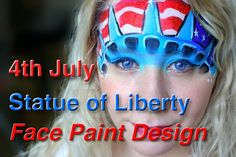 July- Statue of Liberty Face Painting Tutorial Pumpkin Face Paint, Pumpkin Faces, Face Painting Tutorials, Face Painting Designs, Balloon Painting, Body Painting, Mime Face Paint, Face Painting For Boys, Kids Makeup