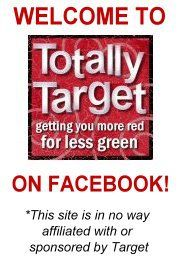Totally Target is a great way to find good deals with coupons at Target!. match ups