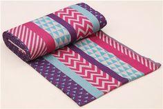 pink purple turquoise triangle stripe geo Jacquard echino fabric  6