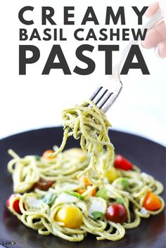 23 minutes · Vegetarian · Serves 6 · This Creamy Basil Cashew Pasta recipe is loaded with all the goods like hearty pasta, fresh tomato and a deliciously creamy cashew sauce. #zestedlemon #vegetarian #recipe #pasta #creamypastasauce… More