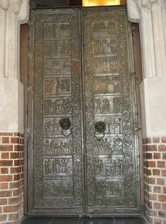 Gniezno Doors, Gniezno Cathedral. In Warsaw, Poland - Babcia's birthplace