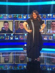 68114dde51e Tv Presenter Katerina Zarifi looks elegant & minimal during her Tv show  ''Who's asking?'' Total outfit By Mat. fashion Real Size Plus Size Fashion