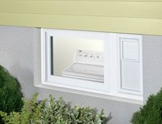 Glass block basement window with air vent and dryer vent for Where to buy glass block windows