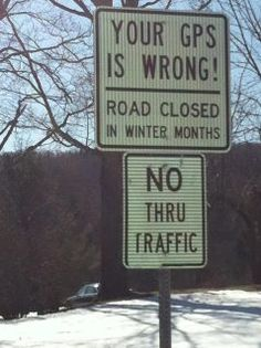 Your GPS is wrong!