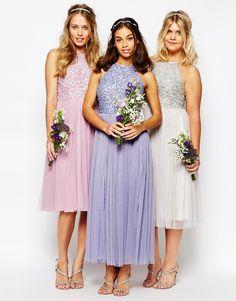 Image 3 ofMaya Petite High Neck Sequin Tulle Maxi Dress