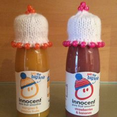 The Big Knit Challenge for Innocent Smoothies Cute Crochet, Crochet Toys, Knit Crochet, Hat Patterns, Knitting Patterns, Innocent Drinks, Small Knitting Projects, Knitting For Charity, Free Knitting