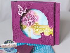 Carte diorama Stampin' UP! Stampin Up, Folded Cards, Projects To Try, Creations, Card Making, Frame, Flowers, Inspiration, Etampes