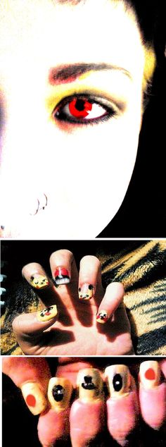 PIKACHU THEME : D I found the picture of the nails online, so I tried to do it myself lol