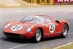 24 heures du Mans 1963 - Ferrari 250P #21 - Pilotes : Ludovico Scarfiotti / Lorenzo Bandini - 1er Sports Car Racing, Racing Team, Auto Racing, Road Racing, 24 Hours Le Mans, Automobile, Le Mans Series, Vintage Racing, Vintage Auto