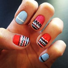 Tribal nails #nails #tribal #nailart