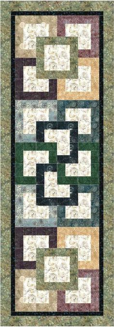 Garden Path Bed Runner Pattern Would make a nice table runner also! Table Runner And Placemats, Table Runner Pattern, Quilted Table Runners, Easy Quilts, Small Quilts, Mini Quilts, Bed Runner, Place Mats Quilted, Quilted Table Toppers