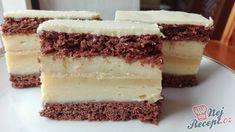 Jednoduchý a super vypadající koláč s vanilkovým krémem a bílou čokoládou na vrchu. Doporučuji namočit nůž při krájení do horké vody, aby se vám poleva nelámala ani nezotírala dole, já jsem spěchala, tak nemám řezy nakrájené pěkně, ale na chuti to vůbec neznat samozřejmě. Mňamka! Autor: Triniti