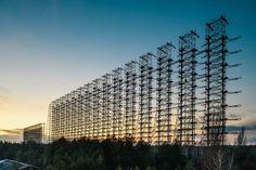 Duga Soviet over-the-horizon (OTH) radar system Pripyat/Chernobyl Ukraine