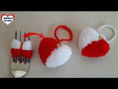❤ HEART MADE FROM AMAZING POMPOM - YouTube Dress Patterns, Crochet Patterns, Hand Work Embroidery, Paracord Bracelets, Yarn Crafts, Crochet Toys, Crochet Earrings, Miniatures, Christmas Ornaments