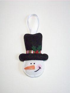 Felt Ornament Snowman.via Etsy.