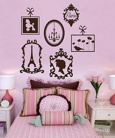 Paris rooms, paris room decor, woman bedroom, girls bedroom, girls ca Paris Room Decor, Paris Rooms, Paris Bedroom, Paris Theme, Paris Bedding, Bedroom Themes, Bedroom Decor, Bedroom Ideas, Wall Decor
