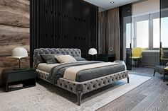 Beautiful and elegant bedroom design with dark color. It will make you feel comfortable. Come on, check out more design here!