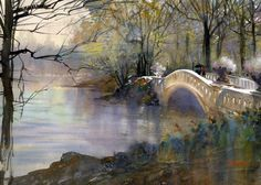 Bridge   Amazing Watercolor Paintings by Thomas W. Schaller