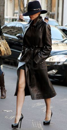 leather trench coat women - Google Search